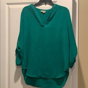 Everleigh Roll-tab Sleeve Tunic Size 12 Green